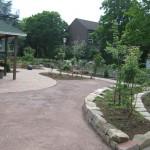 Gartengelände während der Neugestaltung